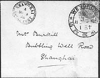 envelope with WENCHOW dollar chop to Shanghai